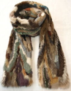 Mink Scarf Fur Men's Women's Multicoloured Fashion Coat Jacket Pattern