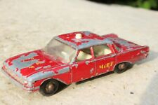 MATCHBOX 59b FORD FAIRLANE FIRE CHIEF good condition/paintwear 1960s