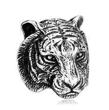 NEW COOL 316L Stainless Steel Power Mens Jewelry Tiger Head Ring Sz 10
