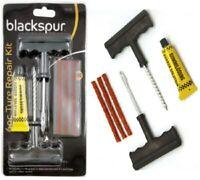 Motorcycle Car Van Tubeless Tyre Puncture Repair Kit Tire Tool Plug Emergency UK