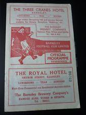 BARNSLEY V FULHAM 18/1/1958