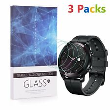 For Huawei Watch GT Elegant Tempered Glass Screen Protector 9H Hardness(3 Packs)