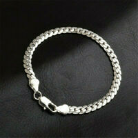 Fashion 925 Solid Silver Bracelet Fashion Jewelry Women 5MM Snake Chain Bangle