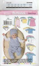 Butterick Sewing Pattern B5585 Baby Dress Top Romper Jacket Hat Sz Pre Nb Sml