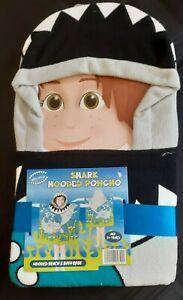 NEW Kids Hooded Hoodie Poncho Shark Bathing Swim Bath Towel Beach Wear Bathrobe