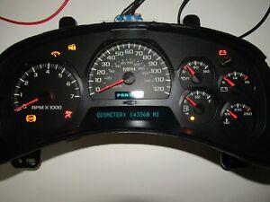 143K mile 03 04 05 Trailblazer Cluster Speedometer WITH info center PN#15238345
