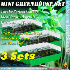 3 Sets Mini Propagator Hydroponic Seedling Clone Propagation Kit Grow Tray Dome