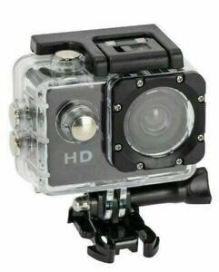 Adventure Pro Action Cam 12 MP Waterproof HD Wide Angle LCD Screen & Accessories