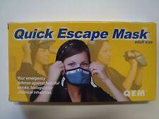 Lot of 50 Quick Escape Mask QEM Adult Size Smoke Protection Emergency Mask