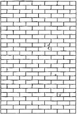 Unmounted Rubber Stamp - Brick Wall - 6018