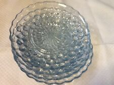 """ANCHOR HOCKING SAPPHIRE BLUE BUBBLE 6 1/2"""" Dessert Bread and Butter Plate(s)"""