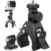 Bike Holder Handlebar Mount + Tripod Adapter For Go pro Xiao yi 4k DLSR Ca EIB