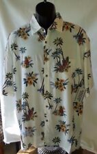MENS LG WINDHAM POINTE Button Up S/S Hawaiian Shirt Floral Island Tropical New