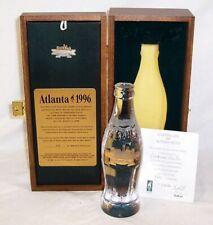 COCA COLA  ATLANTA 1996 CENTENNIAL OLYMPIC GAMES CRYSTAL BOTTLE & PIN 476/500