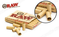2 RAW PRE ROLLED TIPS Natural Prerolled for Cigarette Filter Rolling Paper NIB