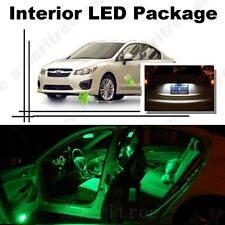 For Subaru Impreza WRX 2004-2018 Green LED Interior Kit +White License Light LED