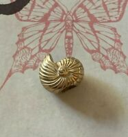 Brighton SEASHELL Snail Shell Gold STOPPER ABC Bead/Spacer