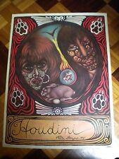 1970s Vali Myers art print Houdini. Bohemian artist