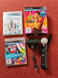 Playstation 3 Move Motion Controller + Kamera + ZUMBA + Gürtel + 2 Spiele PS3