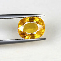 4.47 Cts Natural Sapphire Golden Yellow Lusturous Finest Quality Certified Jewel