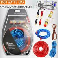 1500W 8GA Car Amplifier Install Wiring Kit Audio Subwoofer Cable AMP L4O3 N8R6