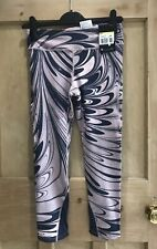 NIKE epic LUX TIGHTS Power Size S 8 PINK PURPLE MIX Capri Length Bnwt