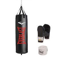 Everlast 100 lb. Nevatear Heavy Bag Kit, Boxing Punching Gloves Hand Wraps Mma