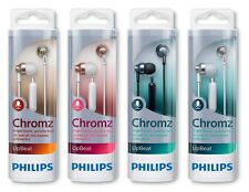 Philips SHE3855 Upbeat Chromz Wired In-Ear Headphones with Mic - Assorted Colors