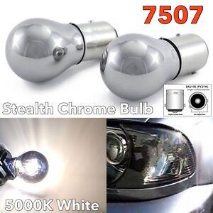 White Chrome Bulb Rear Signal Light BAU15S 7507 PY21W 150 degree W1 JAE