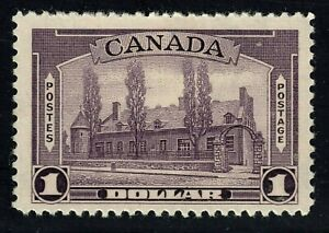 King George VI Pictorial Issue Scott's # 245 $1.00 dull violet MNH CV $180.00 US