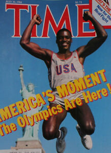Time Magazine July 30 1984 Olympics Carl Lewis Cover photo by Neil Leifer   M330