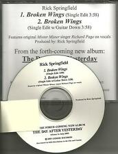 RICK SPRINGFIELD RICHARD PAGE Broken Wings RARE EDIT PROMO CD single MR. MISTER