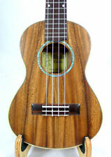 Alulu Solid Acacia Koa Tenor Ukulele, natural wood grain, hard case, HU834