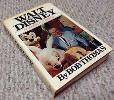 WALT DISNEY by Bob Thomas 1976 1st Edition 1st Print Hard Cover w/ Dust Jacket