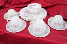CLOVER BLOSSOM BY FEDERAL GLASS ,MILK GLASS DISH SET