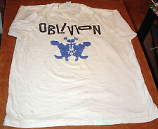 OBLIVION Rorschach Vintage Chicago Punk T-Shirt XL, 1993  Johann's Face Records