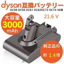 3000mAh Battery for Dyson V6 DC58 DC59 DC61 DC62 DC72 DC74 Animal 21.6V
