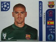 Panini 482 Victor Valdes FC Barcelona UEFA CL 2011/12