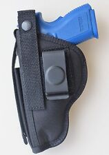 """GUN HOLSTER FOR SPRINGFIELD XDM 3.8"""" 9mm or 40 with Built-in Extra Mag Pouch"""