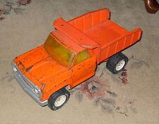 Tonka Dump Truck All Red Original with Patina White wheels Nice