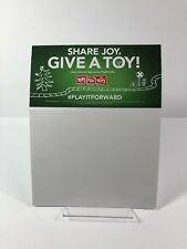 RARE TOYS R US Geoffrey TOYS FOR TOTS Promo Sign/Poster/Card MILITARY MARINES
