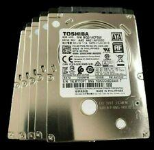 Lot Of (5) Dell MQ01ACF050 Toshiba D/PN 0C7F2G 500GB 5400RPM Slim 7mm SATA 2.5