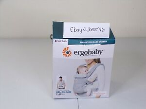 Ergobaby Omni 360 All Carry Positions Ergonomic Baby Carrier Pearl Grey (BR)