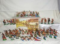 1 Vintage rare Collection Rubber Indians GDR Germany 70's 66pcs in the Box