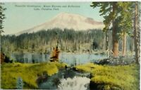 Divided back postcard 1907-1915 Mt Tacoma, Reflection Lake, Paradise Pk, Wash St