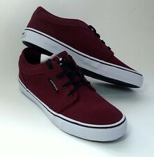 Airwalk Rieder Burgundy Red Canvas Men Skate Boat Sneaker AthleticCasual Shoe9.5