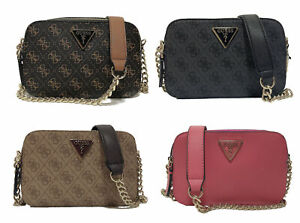 Noelle 4G Logo Pattern Crossbody Bags Double Zipper Satchel Purse NWT ZY787914