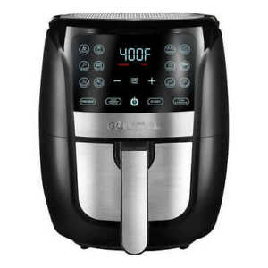 Gourmia 6 Qt Digital Air Fryer One Touch Cooking Instructions Easy Use Clean Up