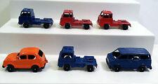 Tootsietoy TINY TOUGHS: Van, Tractor Trailer/Semi Cab, Honda Civic. Diecast Lot.