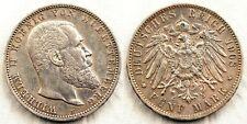 Alemania - Wilhelm II. 5 Marcos 1902 F. Frankfurt. EBC-/XF-. Plata 27,6 g.